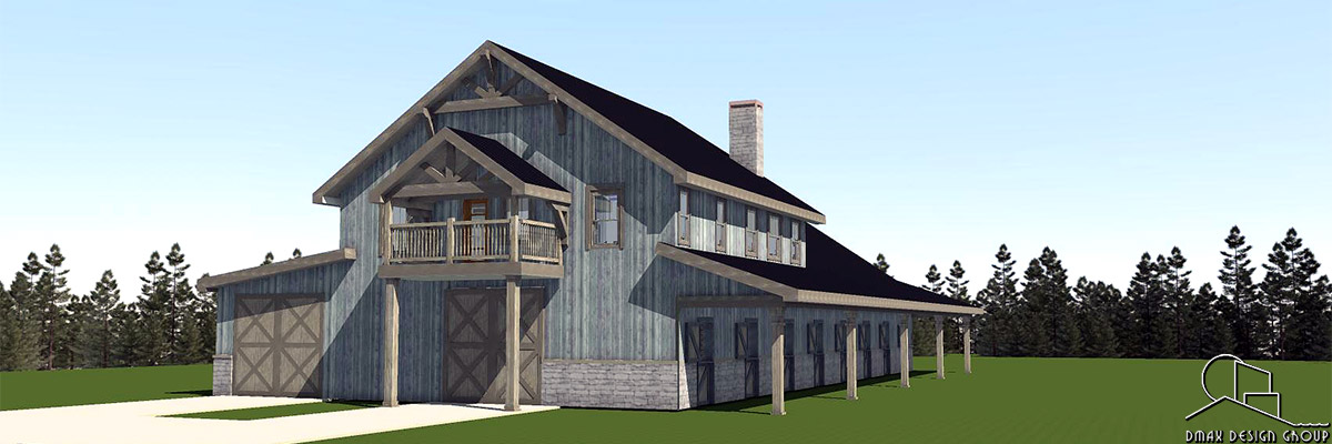 Colorado Series Horse Barn. With Living Quarters