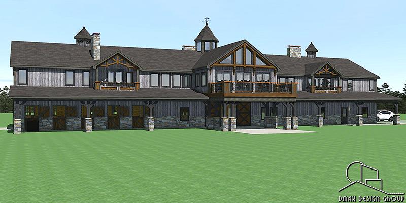 Belmont 01 Horse Barn With Living Quarters Floor Plans
