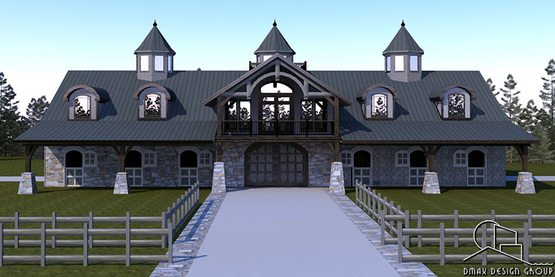 Carolina 03 Horse Barn With Living Quarters Floor Plans