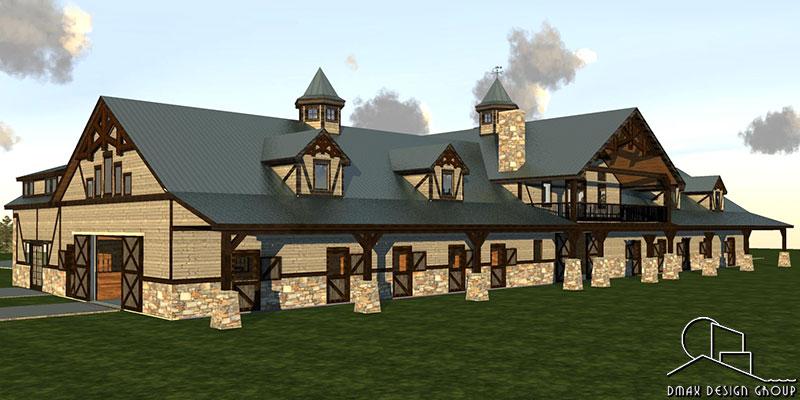 Carolina 04 Horse Barn With Living Quarters Floor Plans