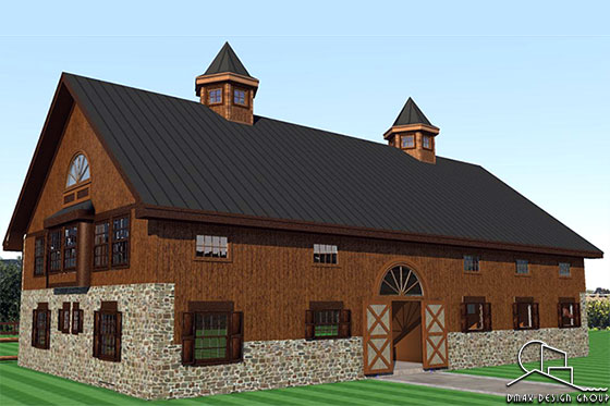Magnificent Horse Barn With Living Quarters Floor Plans Dmax Design Group Download Free Architecture Designs Scobabritishbridgeorg
