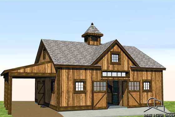 Horse Barn with Living Quarters Floor Plans | Dmax Design Group