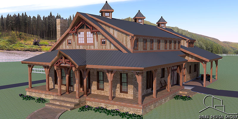 Multi Stall Horse Barn With Living Quarters