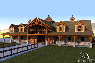 Custom Home Amp Horse Barns With Living Quarters Plans