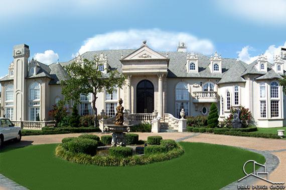 French Renaissance Chateau Custom Home Plans Dmax Design